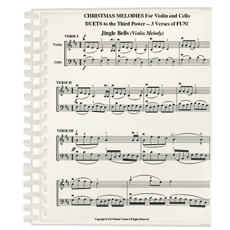 Christmas Violin Duets Pdf.Christmas Melodies Duets To The 3rd Power Violin Melody