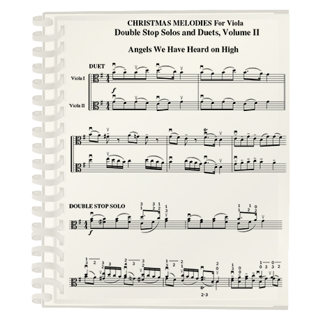 Christmas Melodies: Double Stop Solos and Duets For Viola